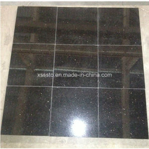 Natural Polishing Stone Black Granite for Flooring and Wall pictures & photos