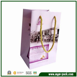 Elegant Purple Patterned Packing Paper Gift Bag pictures & photos