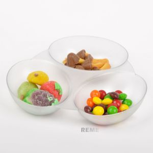 Plastic Disk Disposable Saucer Egg Shaped Tray pictures & photos