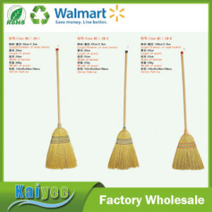 Wholesale Custom Grass Length 56cm Garden Tool Long Wood Handle Broom pictures & photos