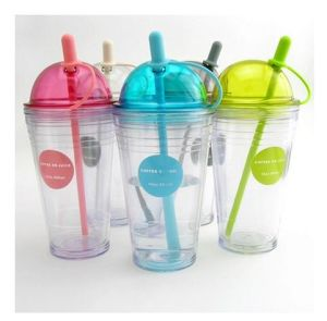 2015 Hot Sale BPA Free Plastic Cup with Straw and Lid pictures & photos