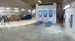 Wld8400 CE Car Water Based / Waterborne Spray Booth pictures & photos