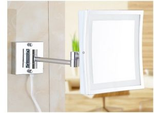 Promotional Square LED Makeup Mirror, Folded European Creative Beauty Mirror pictures & photos