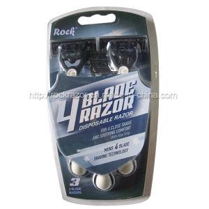 Four Blade Disposable Razor (KD-B4028L For men) pictures & photos