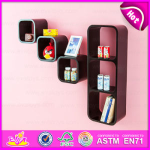 2015 Factory Price Square Style MDF Cube Shelf, Low Price Wall Decoration Wooden Cube Shelf, Decorative Wall MDF Shelving W08c099b pictures & photos