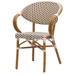 China Outdoor Aluminum French Bistro Rattan Cafe Chair BC 08014