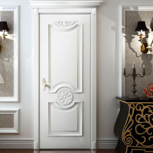 Oppein White Classic Lacquer Finished Wooden Door (MSPD45) pictures & photos