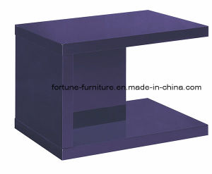 Modern Wooden UV High Gloss Side Table (19042)