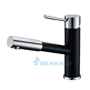 Stainless Steel Kitchen Pull out Faucet in Polish Black pictures & photos