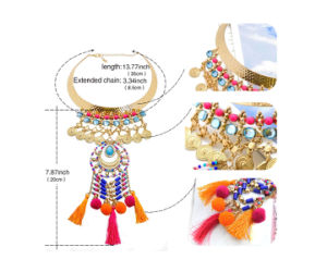 Leiiy Boho Tassel Women Multicolored Statement Pendants Fashion Necklaces pictures & photos