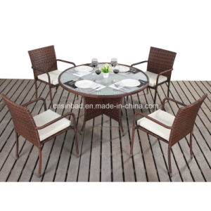 Outdoor Round Dining Set with Steel Frame 1607 pictures & photos