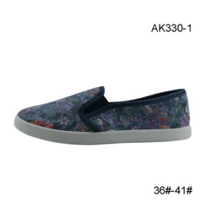 Casual Shoes Wholesale Canvas Leisure Flat for Women (AK330-1) pictures & photos
