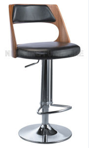 Popular Antique Design Bar Furniture Bent Wood Bar Stool with PU Leather Bar Chair (NK-BC025) pictures & photos