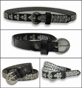 Metallic Style Genuine Leather Fashion Belt pictures & photos