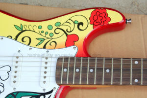 Hanhai Music / Sale Price St Style Electric Guitar with Pattern on Body pictures & photos