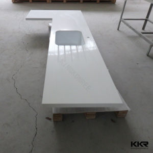Customized White Quartz Stone Kitchen Countertop pictures & photos