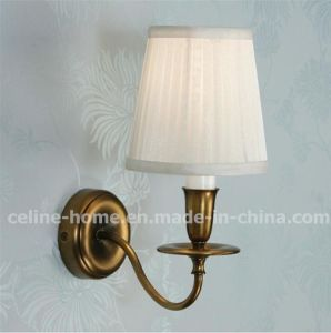 Antique Metal Wall Light with Fabric Shade (C003-1W) pictures & photos