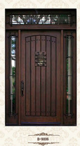 Classic Style Steel Double Door for Exterior (b-6039) pictures & photos
