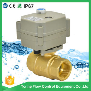 2 Way Electric Control Brass Water Ball Valve Motorized Actuator Brass Ball Valve with Manual Operation (T25-B2-B) pictures & photos