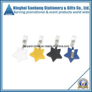 Star Badge Reel ID Card Holder Pull Reel for Promotion (EJ-070)