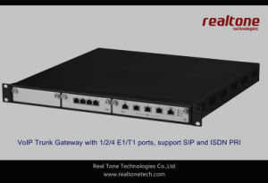 Isdn Pri VoIP SIP Trunk Gateway With 1/2/4 E1/T1 Ports