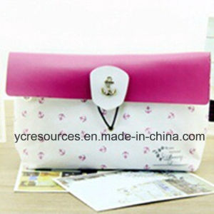 Flocked Cloth Make up Bag (PG18010) pictures & photos