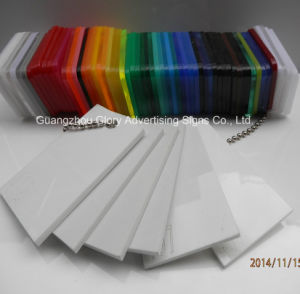 Opal/White/Black/ Milky White Color Casting/Extruded Acrylic Board pictures & photos