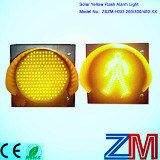 New Design Solar LED Yelow Flashing Warning Light with Pedestrian pictures & photos