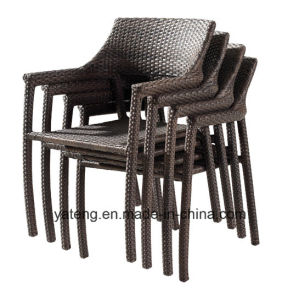Comfortable Good Quality Outdoor Garden Wicker Rattan Aluminum Furniture Stackable Chair & Table Using Dining Room & Restaurant (YT581) pictures & photos