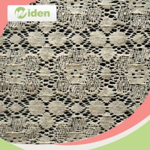 Super Quality Beauty Heavy Ivory Chemical Lace Fabric pictures & photos
