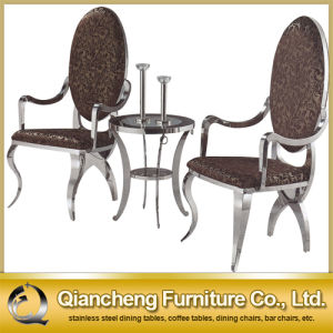 Hot Selling Stainless Steel Dining Chair with Armrest pictures & photos