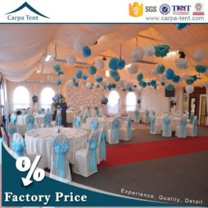 25X30m Luxury Transparent Wedding Tent with Beautiful Decorated Canopy Roof Lining pictures & photos
