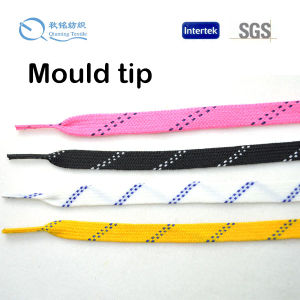 Moulded Tips Heavy Waxed Hockey Shoe Lace pictures & photos