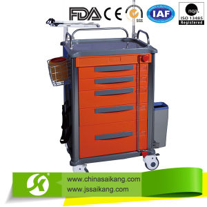 Patient ABS-Stainless Steel Transport Nursing Trolley pictures & photos
