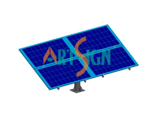 4 Panels Solar Single Pole Ground Mounting System pictures & photos