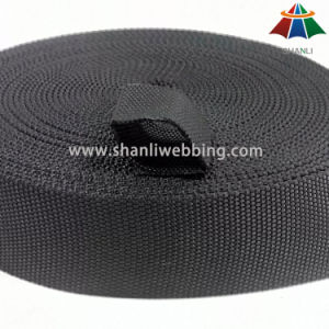 32mm Black Tubular Nylon Webbing pictures & photos