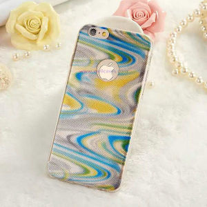 3D Colored Light Wave TPU Phone Cover Mobile Case for Samusng/iPhone pictures & photos
