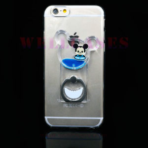 Factory Price Liquid Oil Mobile Phone Case with Ring Holder