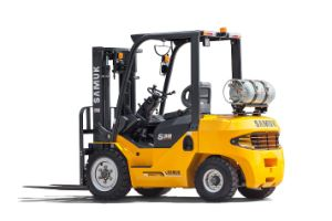 3.0ton Gasoline LPG Forklift Japan Nissan Engine 3m Duplex pictures & photos
