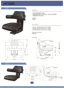 Backrest Adjustable Forklift Seat for Forklift (B25) pictures & photos