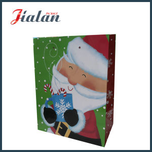 Glossy Laminated Art Paper Smile Father Christmas Gift Paper Bag pictures & photos