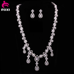 China Wholesale Fashion Hot Sale CZ Gold Plated Jewelry Set pictures & photos
