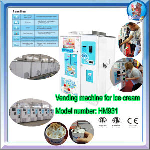 Automatic vending soft ice cream machine approval CE certificate pictures & photos