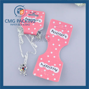 White PVC One Color Printing Jewelry Set Card (CMG-078) pictures & photos