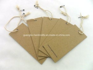 Kraft Hang Tag with String Cords pictures & photos