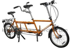 20 Inch Hot Sell Professional Two Riders Tandem Folcing Bike/Tandem Bike pictures & photos