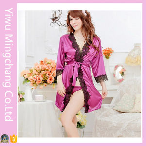 Fashion Designed Women Sexy Polyester Sleepwear with Lace (80001) pictures & photos
