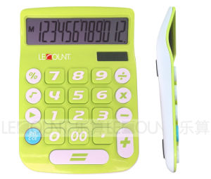 12 Digits Dual Power Desktop Calculator with Big LCD Display and Big Keys (LC201-12D) pictures & photos