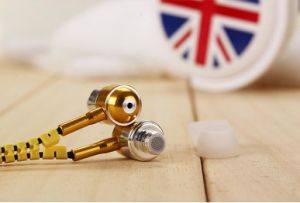 Metal Zipper Wired Earphone for iPhone / Smart Phone pictures & photos
