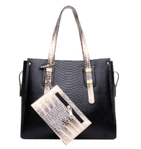 Classics Fashion Bag Crocodile Women Bag 2PCS Set Designer Handbag (XM0218) pictures & photos